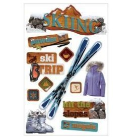 Paper House PH 3D skiing stickers