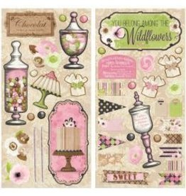 Bo Bunny BB chipboard sweet moments