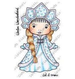 LaLa stamps LL stamp snow princess Marci