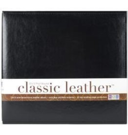 American Crafts AC 12x12 post album black leather
