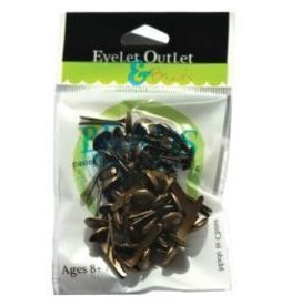 Eyelet Outlet EO brads brushed brass 8mm