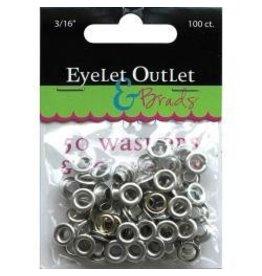 "Eyelet Outlet EO eyelets silver 3/16"""
