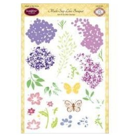 Just Rite JR stamp lilac bouquet