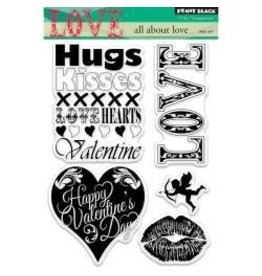 Penny Black PB stamp all about Love