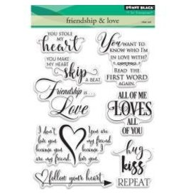 Penny Black PB stamp friendship and love