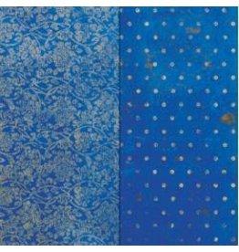 Bo Bunny 12BB vintage dot blueberry