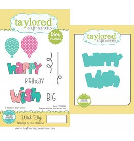 Taylored Expressions TE stamp and die wish big