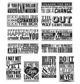 Tim Holtz TH stamp mini motivation