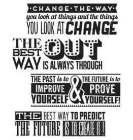 Tim Holtz TH stamp motivation