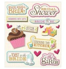 K and Company KC Bridal shower sticker