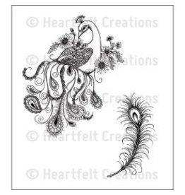 Heartfelt Creation HC stamp feathery peacock
