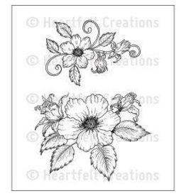 Heartfelt Creation HC stamp botanical rose buoquet