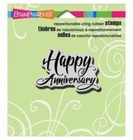Stampendous SPD stamp happy anniversary