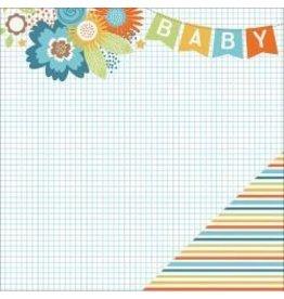 Paper House 12PH hello baby stripes