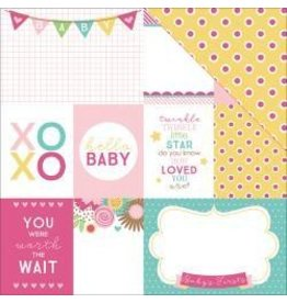Paper House 12PH hello baby girl tags