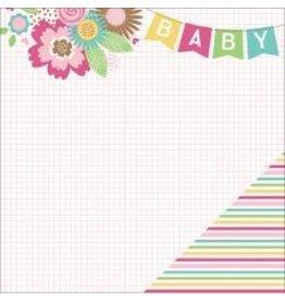 Paper House 12PH hello baby girl stripes