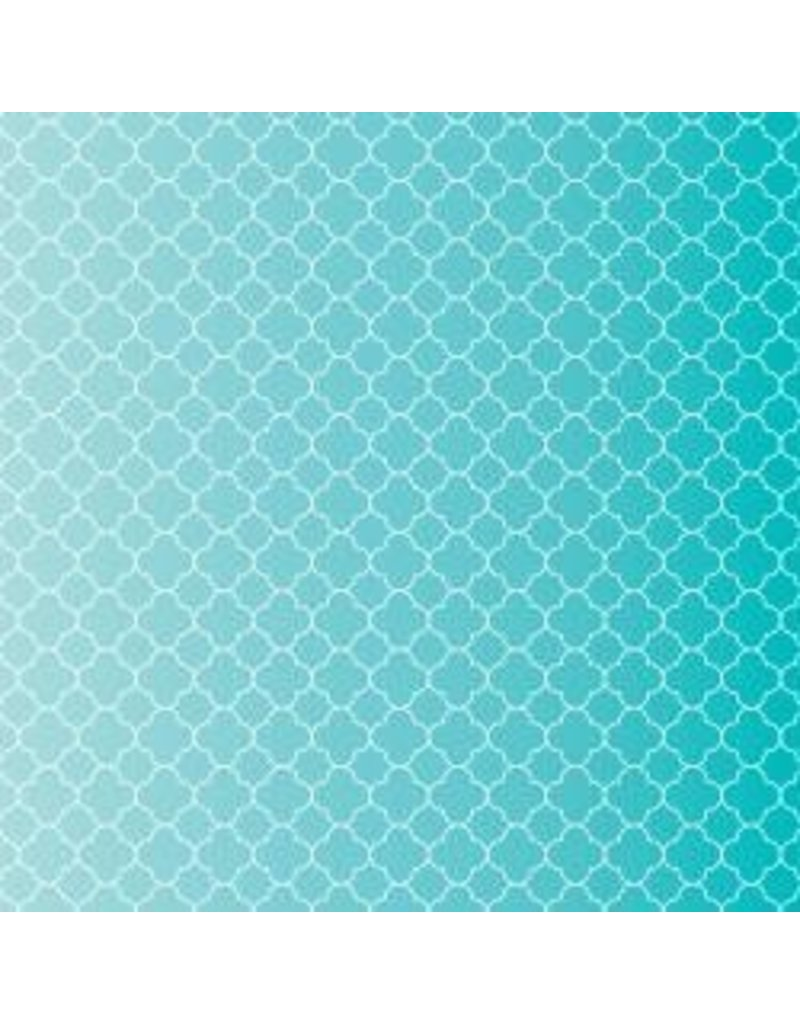 American Crafts Coredintaions quatrefoil teal