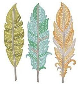Cheery Lynn Designs CLD die BOho feathers