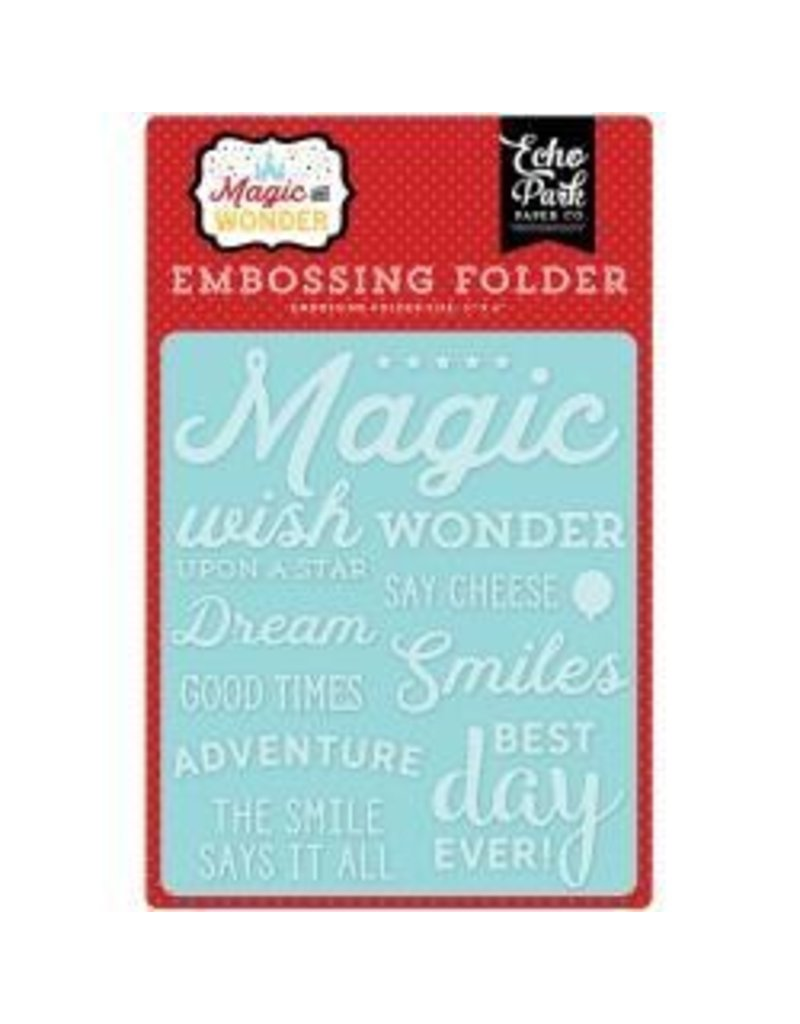 Echo Park EP embossing folder  wish upon a star