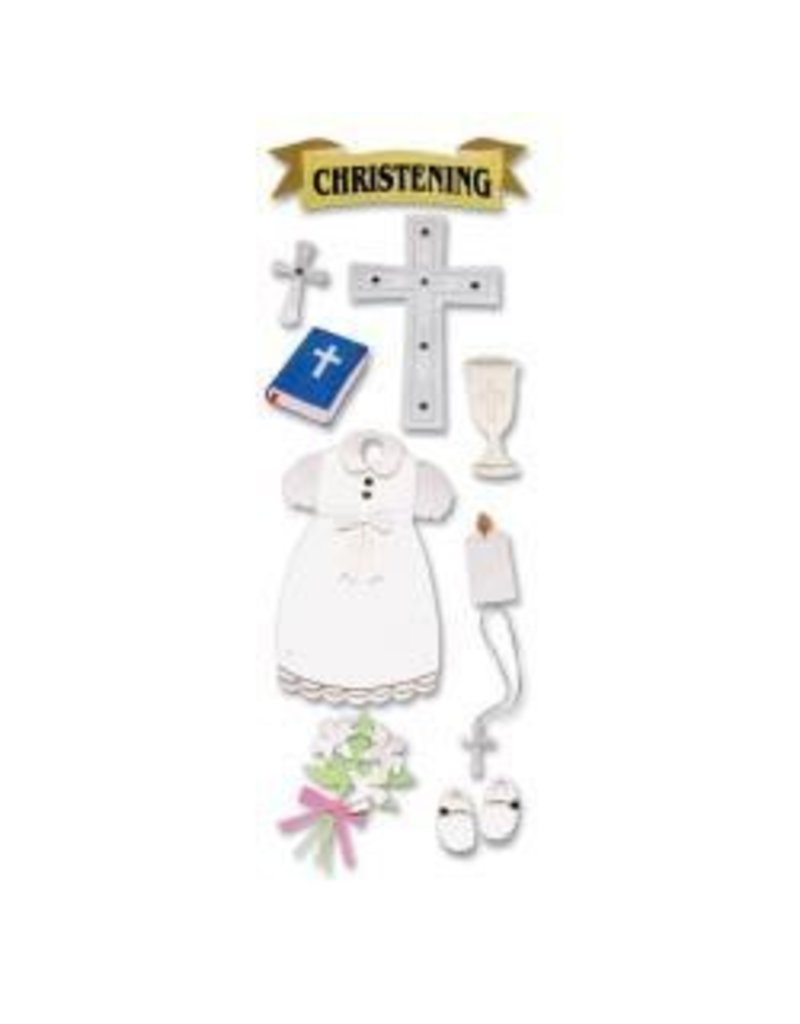 EK Success EK Christening sticker