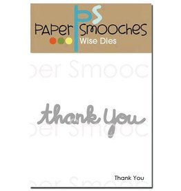 Paper Smooches PS die thankyou