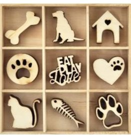 Kaisercraft KS wood pieces pets