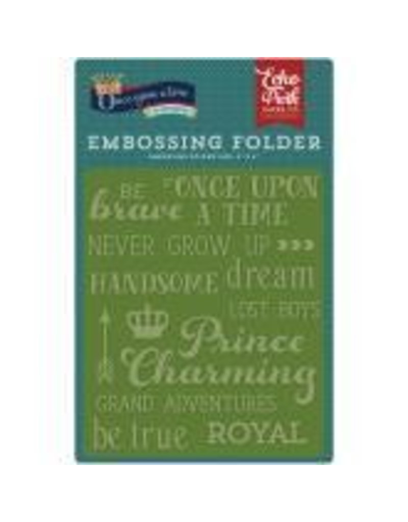 Echo Park EP embossing folder once upon a time words