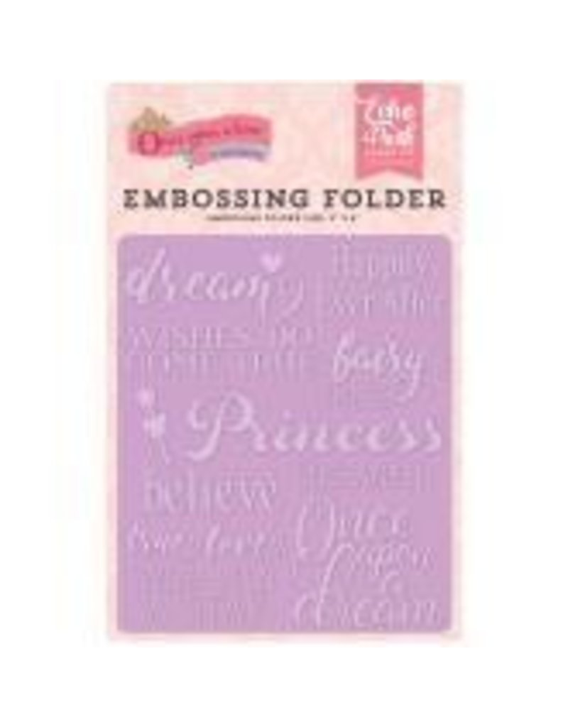Echo Park EP embossing folder fairytale words