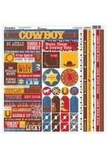Reminisce REM 12x12 sticker sheet cowboy