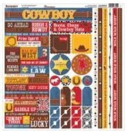 Reminisce REM 12x12 sticker sheet cowboy