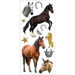 Paper House PH stickers puffy horses