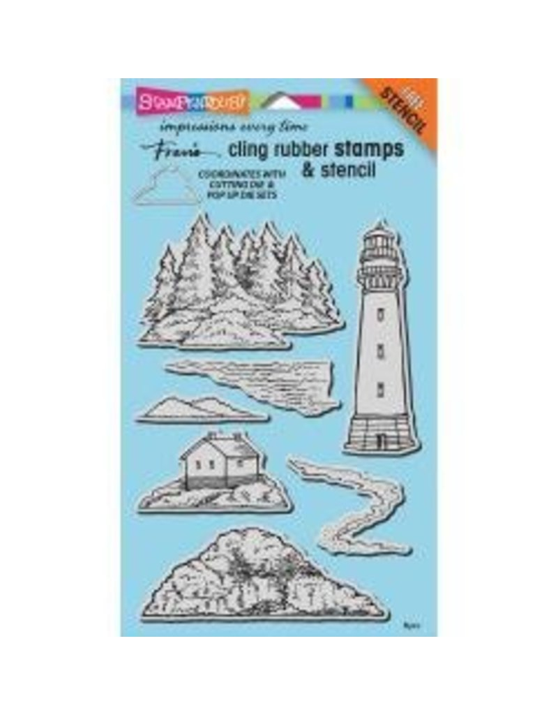 Stampendous Spd stamp build a lighthouse