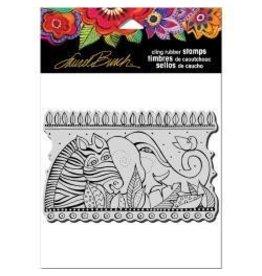 Stampendous SPD stamp rainbow safari