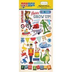 Carta Bella CB chipboard stickers toy box