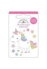 Doodlebug DB fairy tales pops glitter unicorn