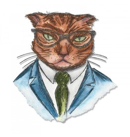 Tim Holtz TH die hipster cat