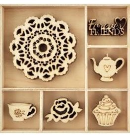 Kaisercraft KS wood shapes tea party