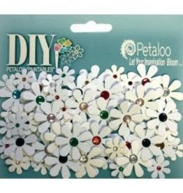 Petaloo PLoo white with jewels flowers