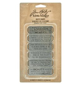 Tim Holtz TH quote bands