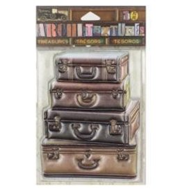 7 Gypsies 7G sticker stacked suitcase
