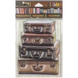 7 Gypsies 7G sticker stacked suitcase
