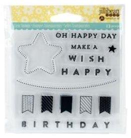 Jillibean JB shaker stamp happy day