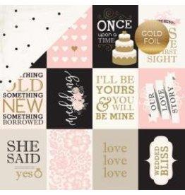 Carta Bella 12CB wedding bliss journal cards foil