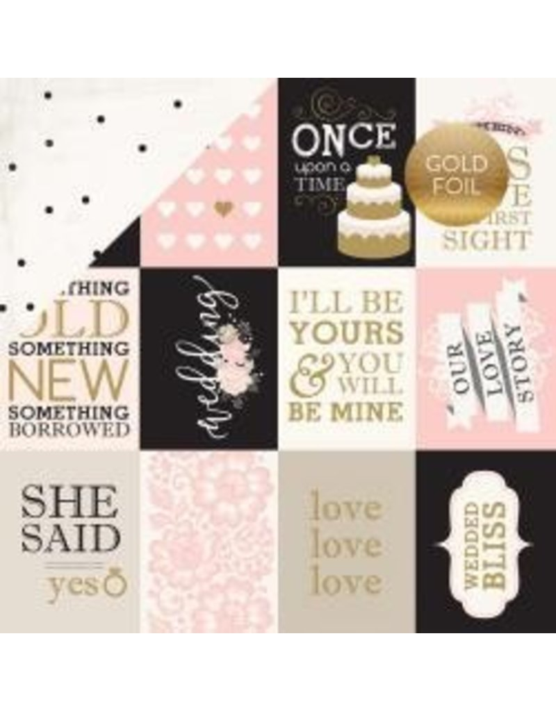Carta Bella 12CB wedding bliss journal cards foil