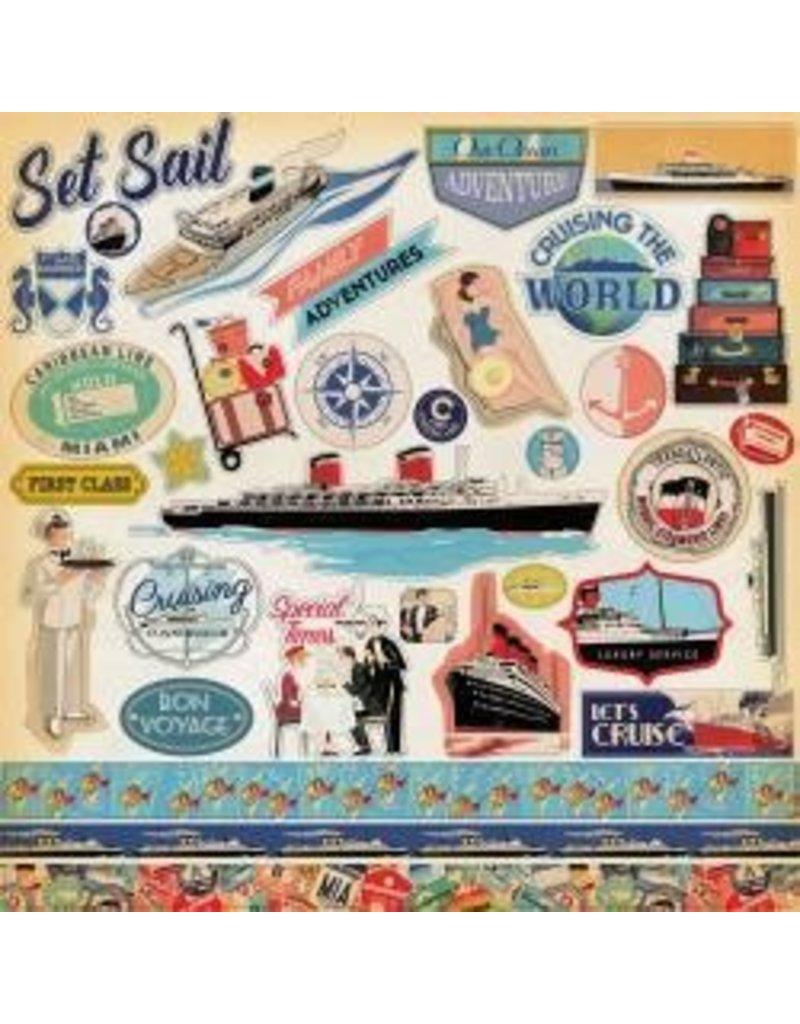 Carta Bella CB 12x12 sticker let's cruise