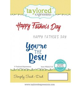 Taylored Expressions TE stamp Dad