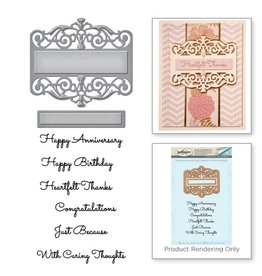 Spellbinders SP die and stamp Giving occasions