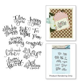 Spellbinders Sp stamp tiny sentiments