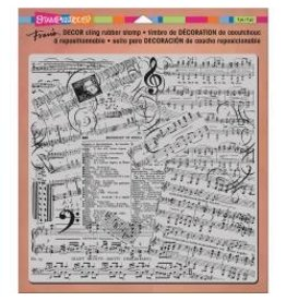 Stampendous SPD stamp decor cling 8x8 music