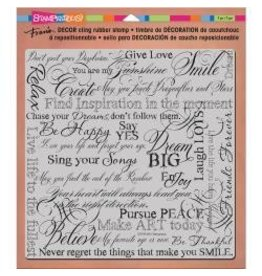 Stampendous SPD stamp decor cling 8x8 dream